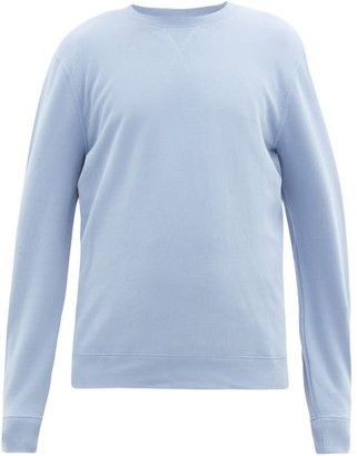 Sunspel Crew-neck Cotton-jersey Sweatshirt - Mens - Light Blue