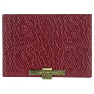 Smythson Red Leather Wallets
