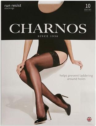Charnos Run Resist Stockings 10D - M NAT/TAN