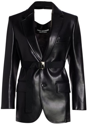 Junya Watanabe Faux Leather Cutout Back Blazer