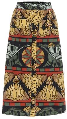 Johanna Ortiz Cross Roads cotton midi skirt