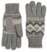 Isotoner Lined Fair Isle Gloves