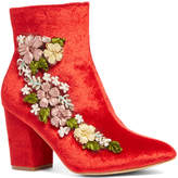 Red Floral Ankle Boot