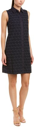 Donna Morgan Women's Novelty Geo Burnout Shirt Dress