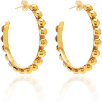 Sylvia Toledano Tribal Gold-Plated Hoop Earrings