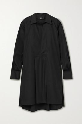 SU PARIS Popi Cotton-poplin Mini Dress - Black