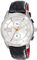 Cccp Men's CP-7002-03 Sputnik 1 Limited Edition Analog Display Japanese Quartz Black Watch