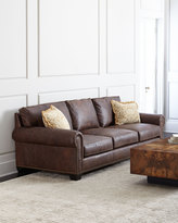 Horchow Massey Leather Sofa