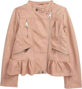 Urban Republic Faux Leather Peplum Moto Jacket