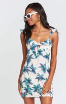 MUMU Brigette Mini Dress ~ Palm Parade Crinkle Stretch