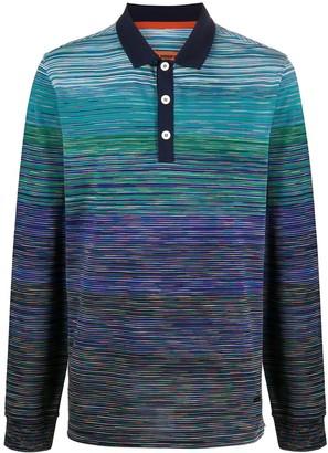 Missoni Colour Block Longsleeved Polo Shirt