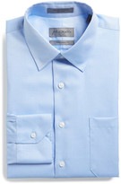 John W. Nordstrom Traditional Fit Solid Pique Dress Shirt