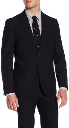 Ben Sherman Solid Black Two Button Notch Lapel Suit Separates Jacket