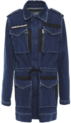 House of Holland Grosgrain-trimmed Denim Jacket