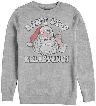 Fifth Sun Men's Sweatshirts and Hoodies ATH - Athletic Heather 'Don't Stop Believing!' Crewneck Sweatshirt - Men