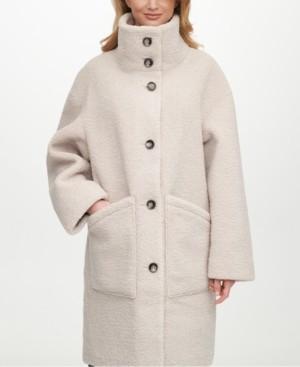 DKNY Reversible Faux-Shearling-Lined Coat