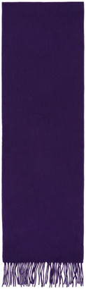 Paul Smith Purple Cashmere Scarf