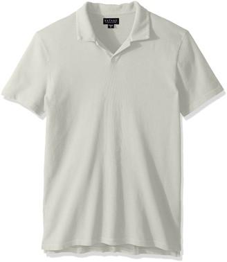 Velvet by Graham & Spencer Men's Short-Sleeve Vintage Jersey Buttonless Polo