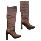 Celine Camel Leather Boots