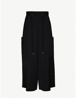 AKIRA NAKA Queenie Baggy wide-leg high-rise crepe trousers