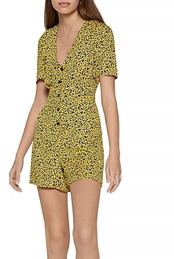 BCBGeneration Animal Print Woven Romper