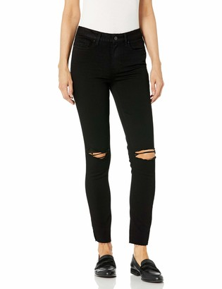 Paige Women's Hoxton Transcend Stretch High Rise Skinny Fit Raw Hem Ankle Jean