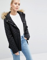 Asos Padded Jacket with Faux Fur