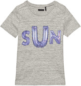 Ikks Grey Marle Sun Print T-Shirt