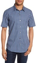 Zachary Prell Men's Check Short Sleeve Sport Shirt