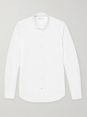 Loro Piana Andrew Slim-Fit Cutaway-Collar Cotton-Pique Shirt