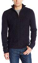 Haggar Men's Long-Sleeve Quarter-Zip Sweater