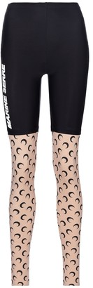Marine Serre Exclusive to Mytheresa Printed stretch-jersey leggings