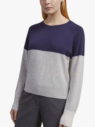 Jigsaw Merino Cashmere Colour Block Jumper