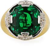 Jude Frances Maltese Stone Ring w/ Emerald Quartz, Size 6.5