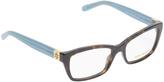 Tory Burch Brown & Light Blue Eyeglass Frames