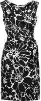 Diane von Furstenberg Della wrap-effect printed crepe mini dress