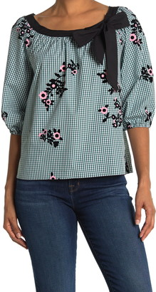 Marc Jacobs Boatneck Gingham Blouse