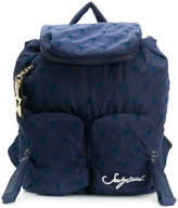 See by Chloe embroidered multi-pocket backpack