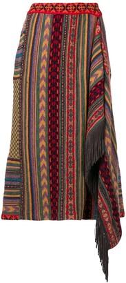 Etro Patterned Asymmetric Skirt
