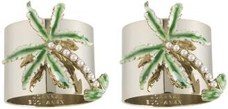 Joanna Buchanan Palm Tree Napkin Ring - Set of 2