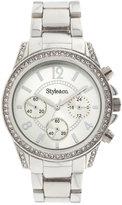 Style&Co. Watch, Women's Silver-Tone Bracelet SY004S