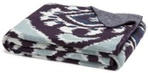 The Well Appointed House Eco Designer Throw in Ikat Blue Pattern