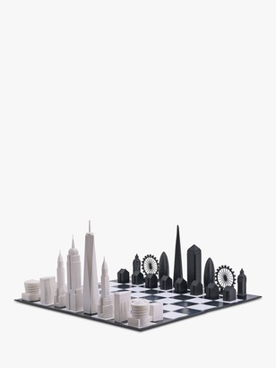 Skyline Chess New York City versus London Chess Set