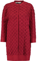 Valentino Guipure Lace And Twill Coat