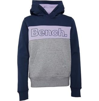 Bench Junior Girls Paz Hoodie Navy/Grey