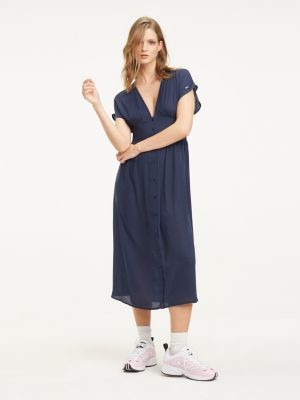 Tommy Hilfiger Flare Fit Midi Dress