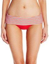 Seafolly Women's Riviera Stripe Rolltop Hipster Bikini Bottom