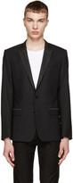 Dolce & Gabbana Black Printed Lapels Blazer