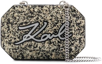 Karl Lagerfeld Paris K/Shine Minaudiere crossbody clutch bag