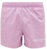 Givenchy Logo-printed Swim Shorts - Mens - Light Purple